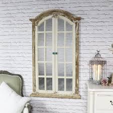 large rustic shutter style window