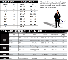 Hiking Pole Height Chart Line Pin Ski Poles 2018