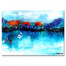 under blue sky landscape beautiful abstract painting by abstract artist peter dranitsin