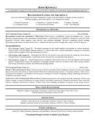 Perfect Registered Landscape Architecture Resume Template With