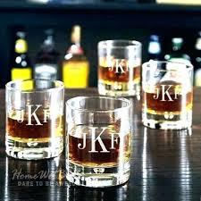 designer whiskey glass monogrammed rocks glasses set of 4 etched custom scotch com personalized bourb