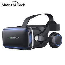 3D VR kulaklık Bluetooth sanal gerçeklik gözlükleri Google karton için TV  filmleri Video oyunları Smartphone|3D Glasses/ Virtual Reality Glasses