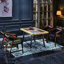 industrial restaurant furniture. China Industrial Style Restaurant Furniture Set With Rectangle Table For 4 Persons Used (SP-CT790) - Wooden Set, And Chair