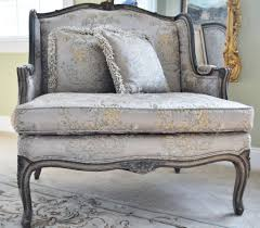 French Ottoman french style wing chair and ottoman at 1stdibs 7849 by guidejewelry.us