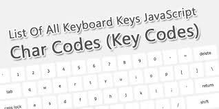 Javascript Keycode Chart List Of All Keyboard Keys Javascript Char Codes Key Codes