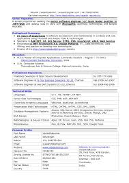 Sample Resume For Experienced Software Engineer India Fresh Resume