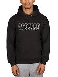 <b>Official</b> Creeper Death Card Logo Hoodie: Amazon.co.uk: Clothing