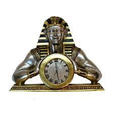 Gold Faun ägyptischer Clock Mantle Oder Wall Tut King Leaf