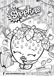 Small Picture Shopkins Strawberry Kiss Coloring Pages Printable