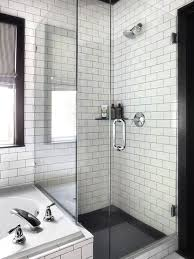 black and white shower tiles view full size