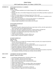 Floor Technician Job Description For Resume Floor Technician Resume Samples Velvet Jobs 1