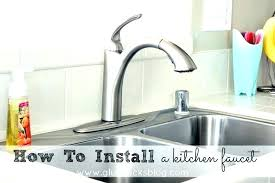 install kitchen faucet removing kitchen sink faucet how to install a kitchen sink faucet how to install kitchen faucet