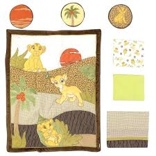 lion king 7 piece crib set baby bedding