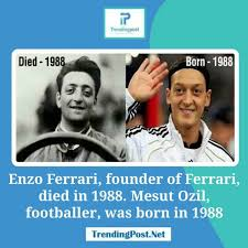 In fact, it's commonly believed ozil is the reincarnation of ferrari, as he was born just weeks after the italian legend's death. 10 Mind Blowing Coincidences That Are Almost Unbelievable Thatviralfeed