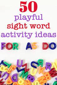 Activities Word 50 Fun Sight Word Activities For Kindergarten Kid Approved