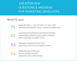 graduate marketing guide job interview tips look inside