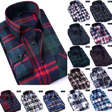 Size Chart New Plaid Shirt Men Women Long Sleeve Mens Dress