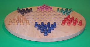 wooden peg game board chinese checkers oiled 18 circle hard maple w 1931 5 peg