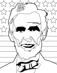 abraham lincoln coloring page handipoints abrahamlincolninkabe lincoln coloring page