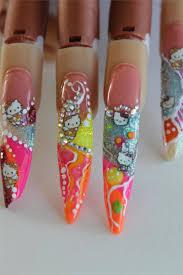 colored nail acrylic
