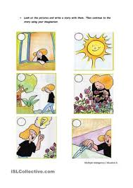 FREE ESL write a story worksheets Write a story about pictures