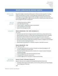 Brand Ambassador Resume Stunning 19 Brand Ambassador Resume Manager With No Experience Home Improvement