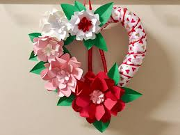 Cardstock Paper Flower Diy Valentines Day Wreath With Paper Flowers Cardstock Warehouse