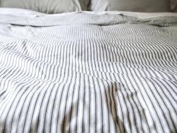 ticking stripe duvet cover ikea