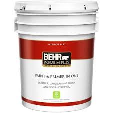 washable paint for wallsBEHR Premium Plus 1 gal Ultra Pure White SemiGloss Enamel Zero