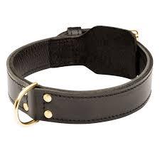 Черный <b>широкий кожаный ошейник</b> «Double-layer» для собак ...