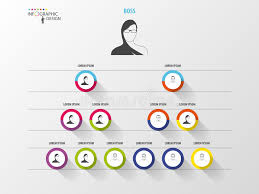 Business Structure Organisation Chart Infographic Design