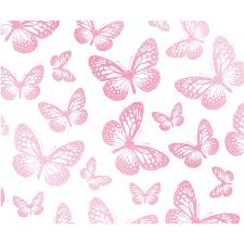 Pink Bedroom Wallpaper Girls Bedroom Butterfly Wallpaper In Pink White Teal More New