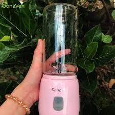 Review (loại mạnh nhất-2 cối) máy xay sinh tố cầm tay mini đa năng kanchhi
