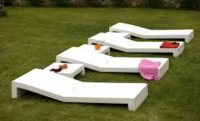 incredible modern white outdoor chairs modern outdoor furniture design of jut tumbona white vondom