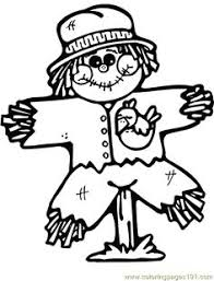 Small Picture Cute Scarecrow Coloring Page Scarecrows Worksheets and Embroidery