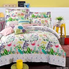 new 2016 100 cotton kids bedding set zebra bird bedding queen duvet cover