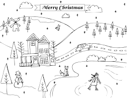 Small Picture Winter Scene Christmas Holidays Coloring Pages Coloring Pages