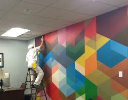 wall murals office. Accentwall Home Office Wall Decals Corporate Murals Uk
