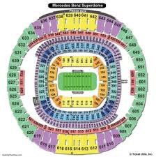 Mercedes Benz Superdome Seating Chart With Rows The Most Stylish Superdome Seating Chart Seating Chart
