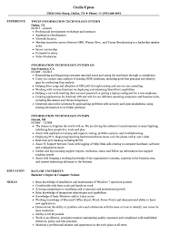 Information Technology Intern Resume Samples Velvet Jobs