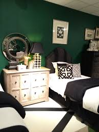British Racing Green Walls Nicely Contrast With The White And Black