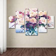 trademark fine art roses in glass by david lloyd glover 5 panel wall art set on multi panel canvas wall art set with trademark fine art roses in glass by david lloyd glover 5 panel wall