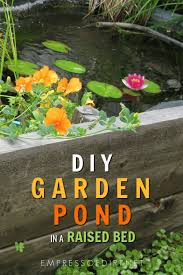 how to build a pond in a raised garden bed