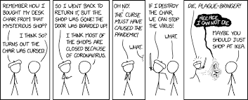 How these texts are showing up everywhere is not a mystery anymore, since a lot of online. Xkcd Cursed Chair
