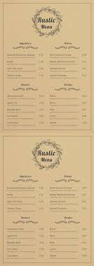 Rustic Menu Design Ideas Free Rustic Menu Menu Design Menu Layout Free Menu Templates