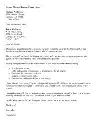 Career Transition Cover Letter Best Persuasive Career Change Cover