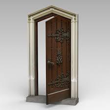 door old royalty free 3d model preview no 7
