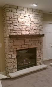 Zen Inspired Stone Fireplace  Contemporary  Living Room Austin Stone Fireplace
