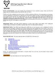 Wtb Rim User S Manual Manualzz Com