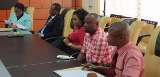 Secretary to Akwa Ibom State Government, Dr. Emmanuel Ekuwem received the  leadership of the Association of Telecommunication Companies of Nigeria  (ATCON) led by its President, Olusola Teniola in Uyo. - Akstrending